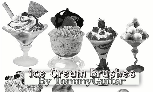 Nice ice cream brushes