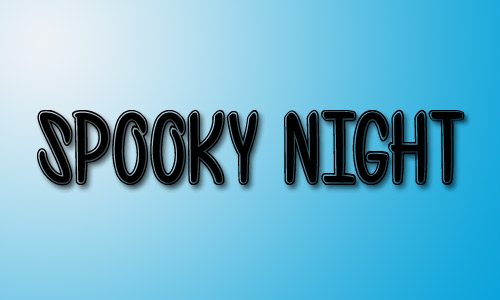 Spooky night outline font