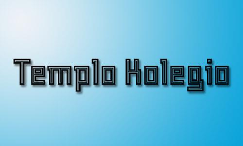 Inlined templo kolegio font
