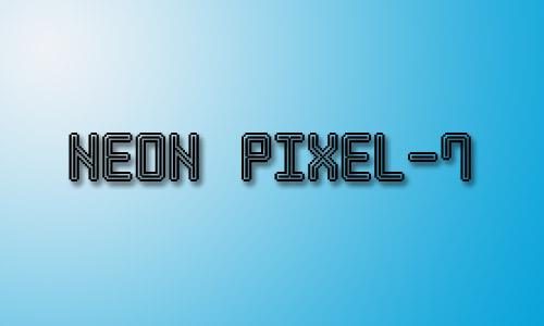 Neon inline fonts