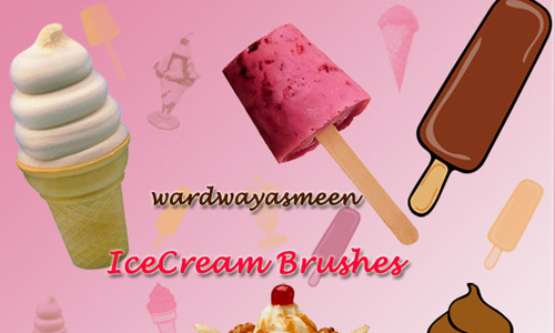 Sweet ice cream photoshop brush