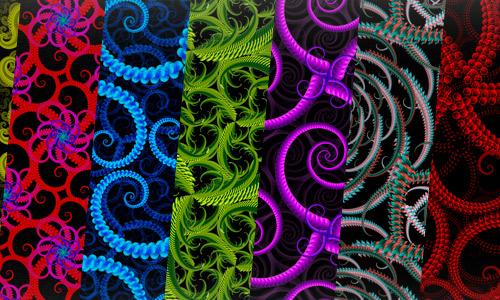 Free fractal patterns