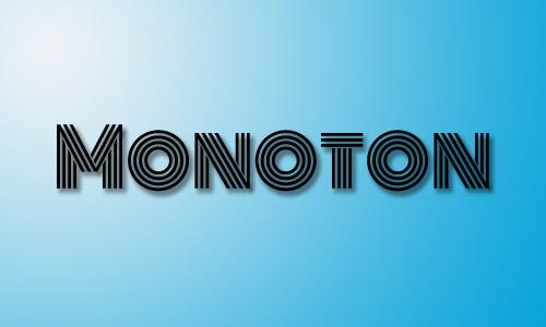 Monoton font free