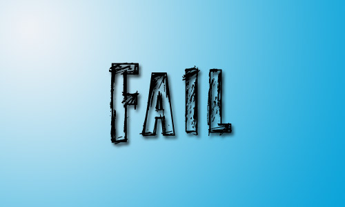 Fail grunge outlined font