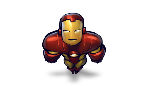 Iron man hero icon