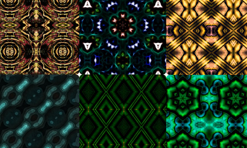 Trippy photoshop patterns