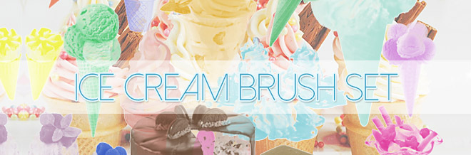 Create Sweet Designs With Free Ice Cream Brush For Photoshop