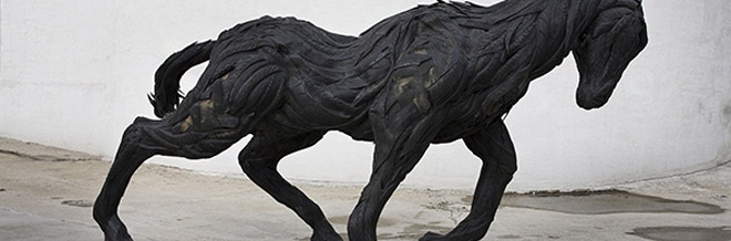 Amazing Sculptures of Monsters And Animals Made From Tires