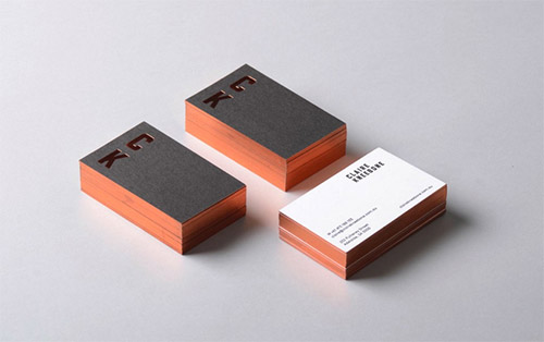 bronze hot foil business card