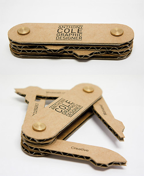 swiss knife business cards