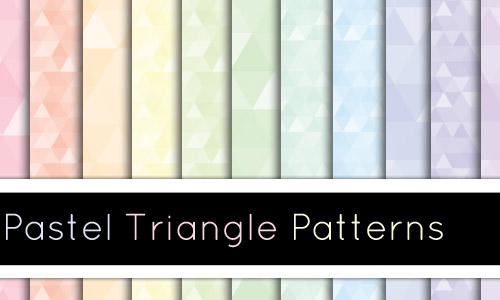 geometrical pastel patterns