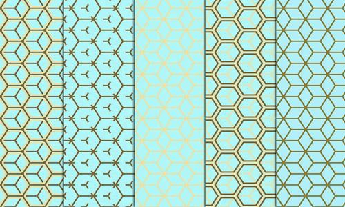 geometrical pattern paper