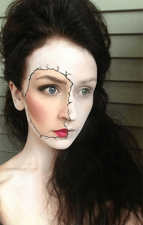 white lady Halloween make up