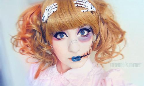 Asian Halloween make-up
