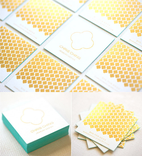 luxurious gold foil business card