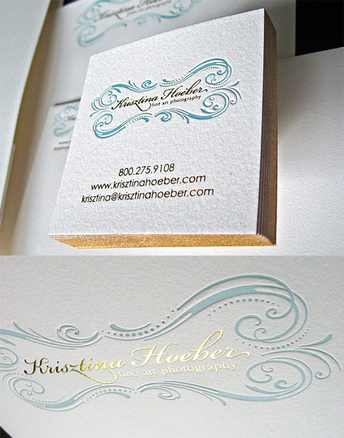 classy hot foil business card