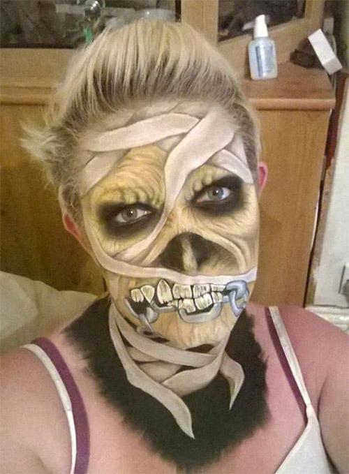 mummy Halloween makeup