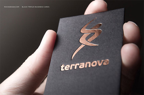 triplex copper foil business card