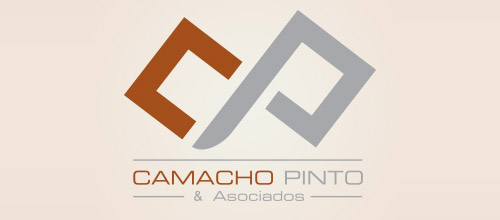 Camacho law firm logo design