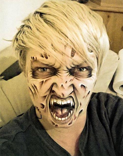 gargoyle Halloween make-up