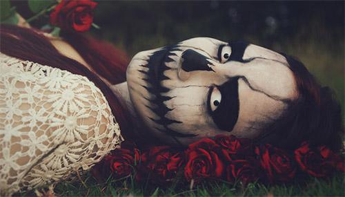 death Halloween make-up