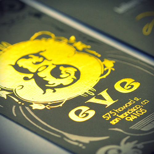 gold foil business card design
