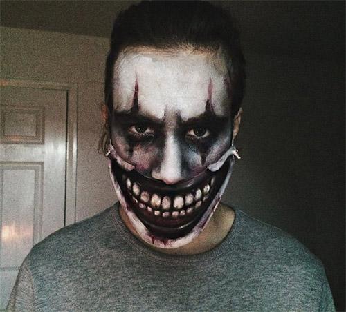 grim Halloween make-up