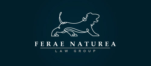 lion law firm logo design