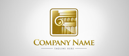 column law firm logo design