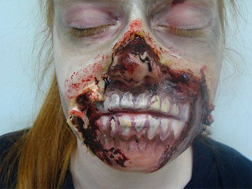 burn Halloween makeup