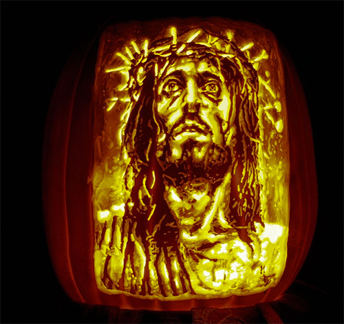 jesus Christ  pumpkin carvings