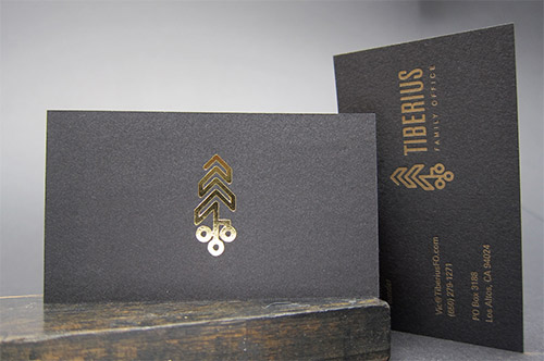 logo gold foil business card
