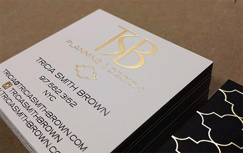 elegant gold foil business card