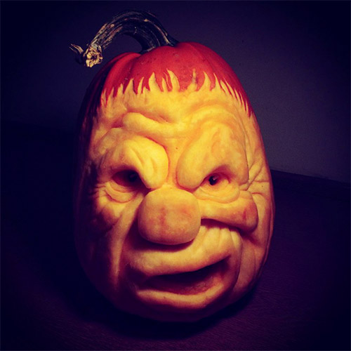 clown pumpkin carvings
