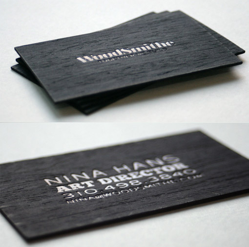 hot oil wood business card