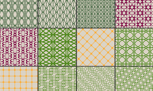 vintage geometrical patterns