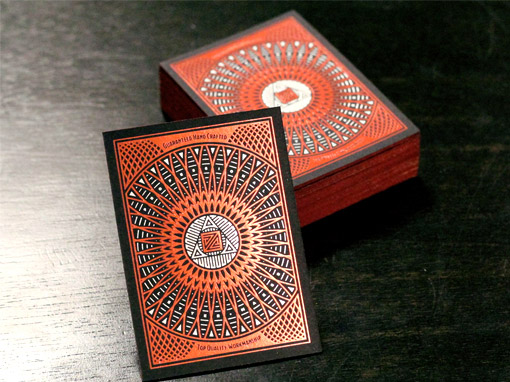 intricate business cards