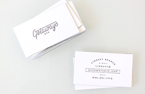 typography business card designs