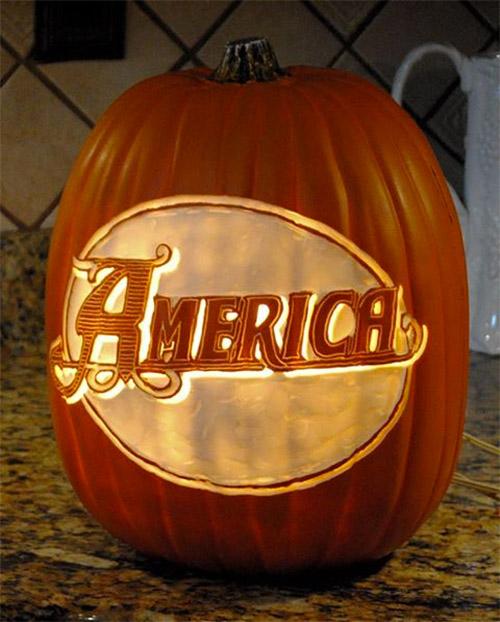 America font pumpkin carving