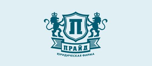 lion law firm logo design