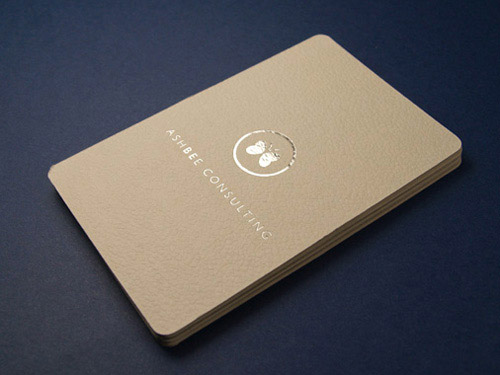 elegant silver foil business card