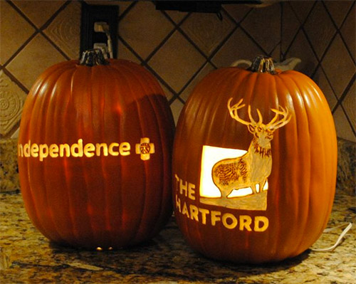 logo pumpkin carving