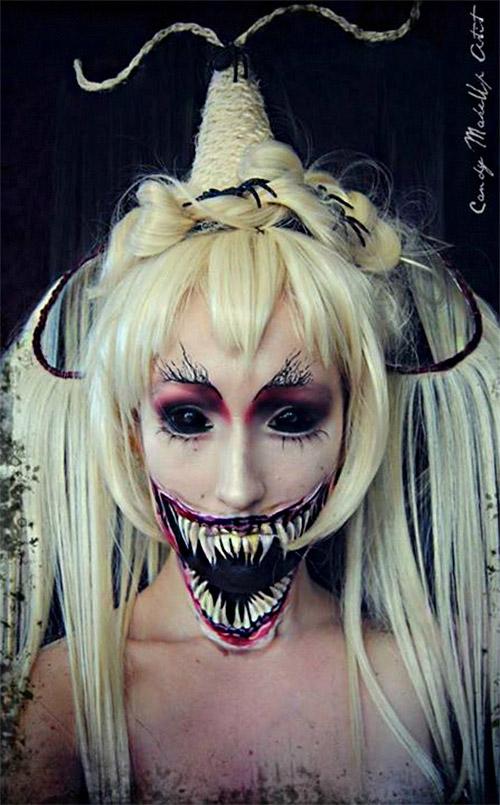 monster Halloween makeup