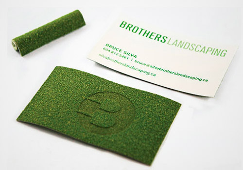 turf grass business card