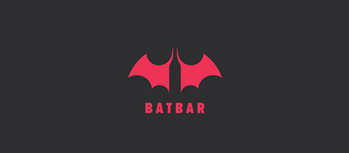 bat bar logo design