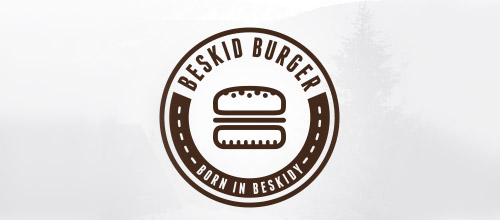 beskid burger logo design