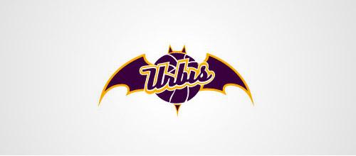 basketball logo design bat