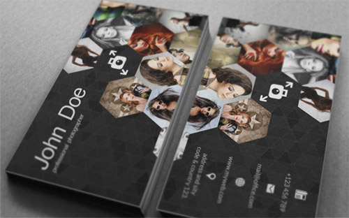 business card photography template