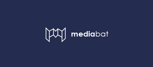 media bat logo design