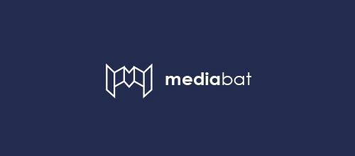 media bat logo design